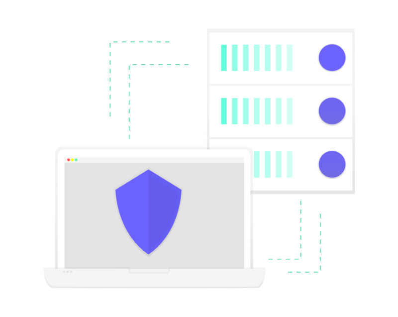 Illustration of compute connection to secure website server